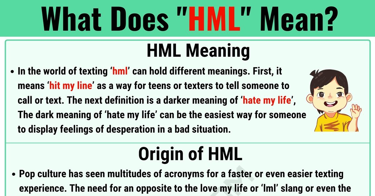 HML Meaning: What Does HML Mean and Stand for? 1