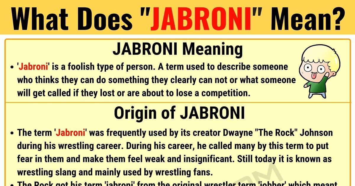 JABRONI Meaning: What Does JABRONI Mean? Useful Text Conversations 1