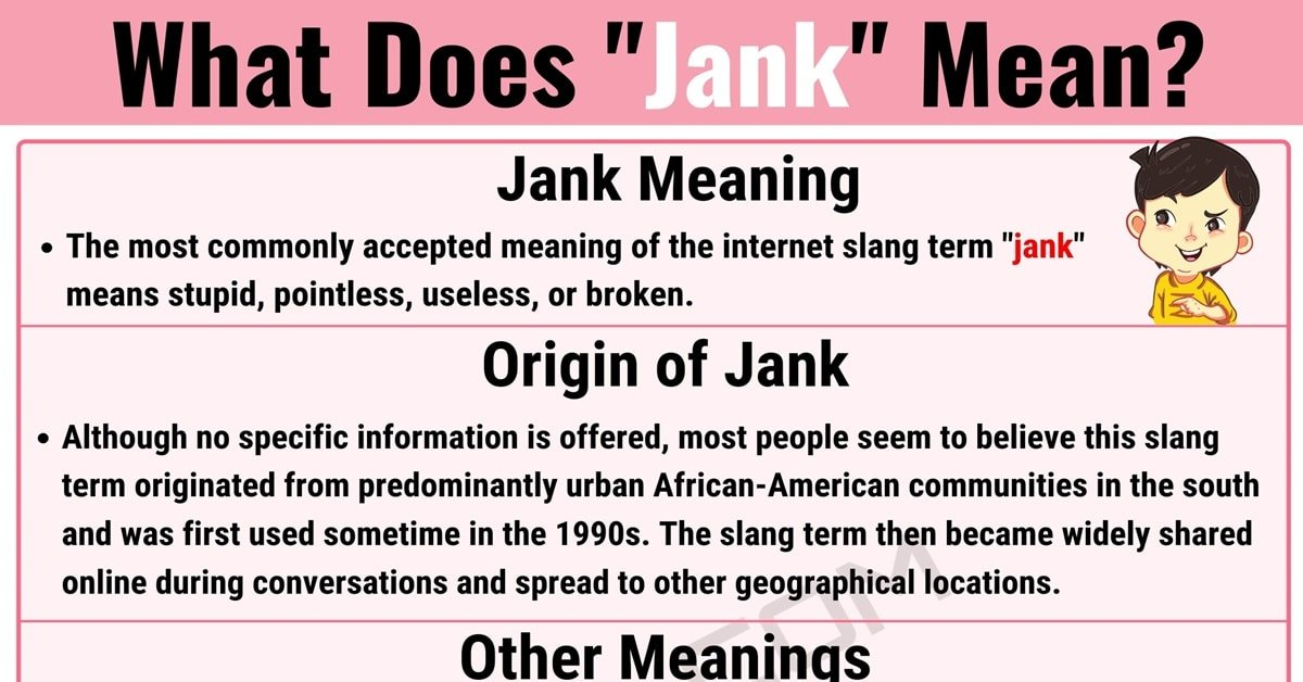What Getting 'Jank' Means and How to Use It Properly 10