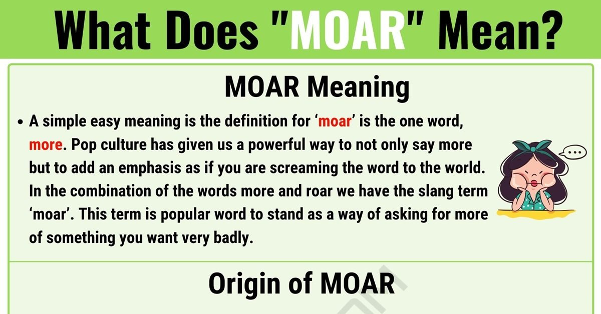 "MOAR Meaning: What Does the Interesting Term ""MOAR"" Mean? 1"