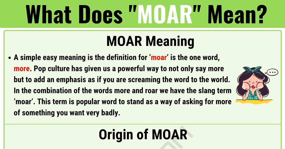 """MOAR Meaning: What Does the Interesting Term """"MOAR"""" Mean? 1"""