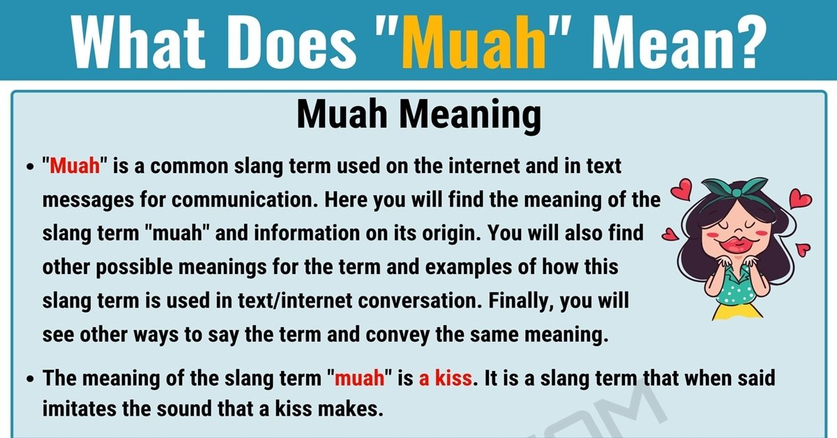 """Muah"" Meaning 