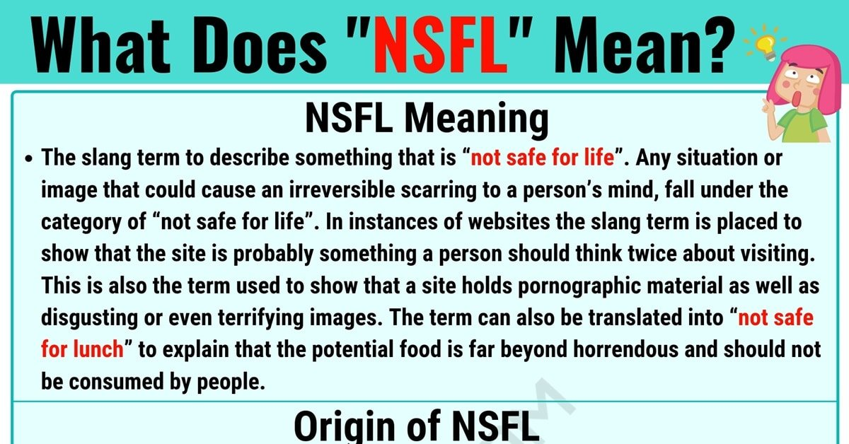 NSFL Meaning: What Does NSFL Mean and Stand for? 1
