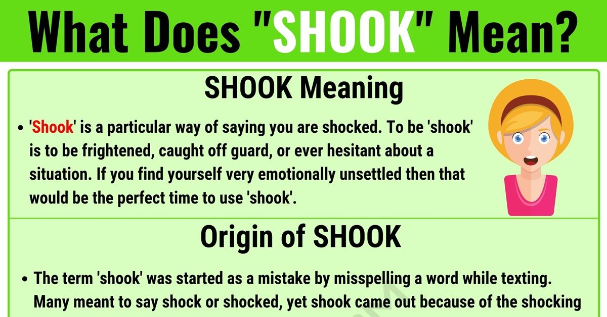 SHOOK Meaning: What Does SHOOK Mean? with Useful Examples 1