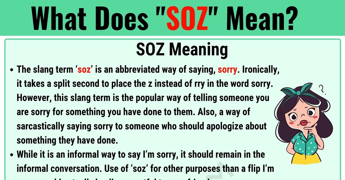 SOZ Meaning: What Does SOZ Mean? Useful Text Conversations 1