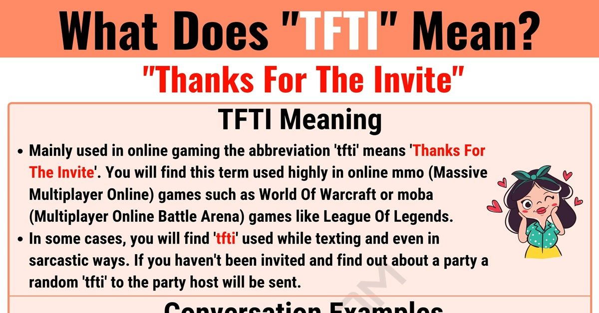 TFTI Meaning: What Does TFTI Mean and Stand for? 1
