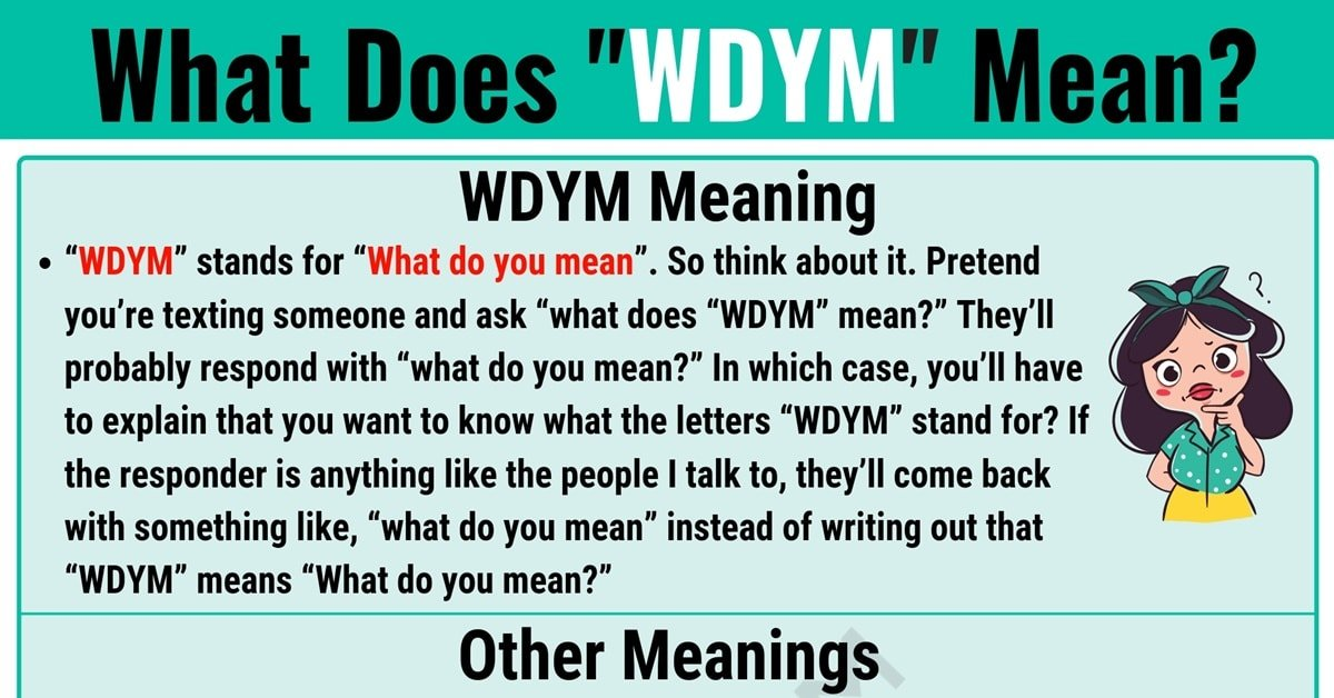 WDYM Meaning: What Does WDYM Mean and Stand for? 1