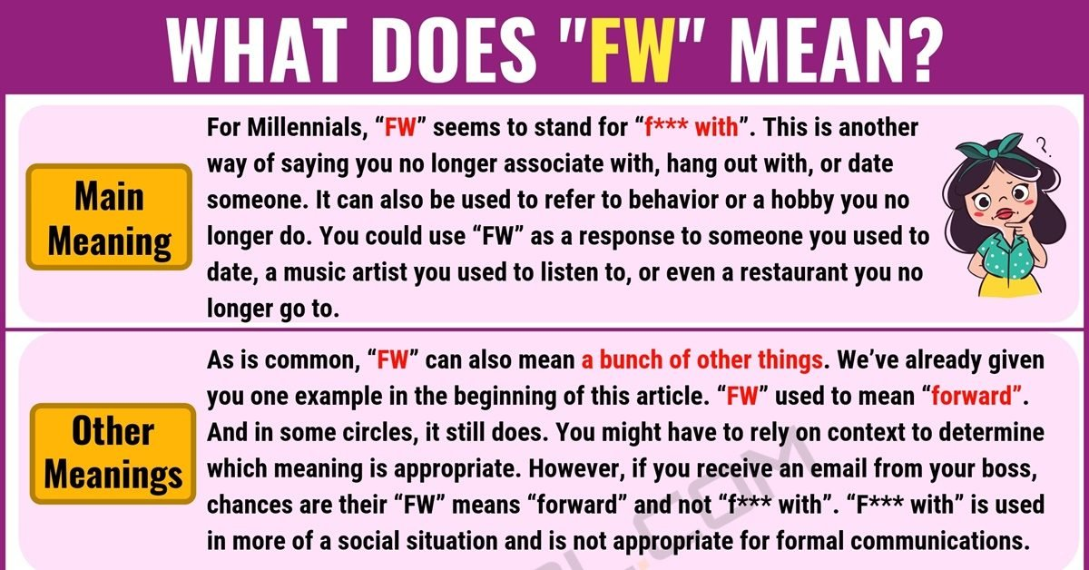 FW Meaning: What Does FW Mean? with Useful Examples 1