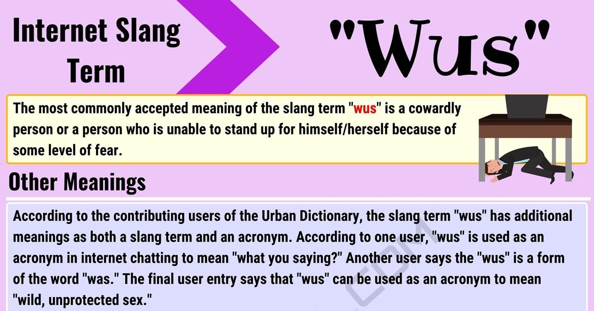 Wus Meaning: How to Use the Internet Slang Word Wus? 1