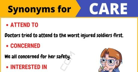 CARE Synonym: List of 105+ Synonyms for Care with Useful Examples
