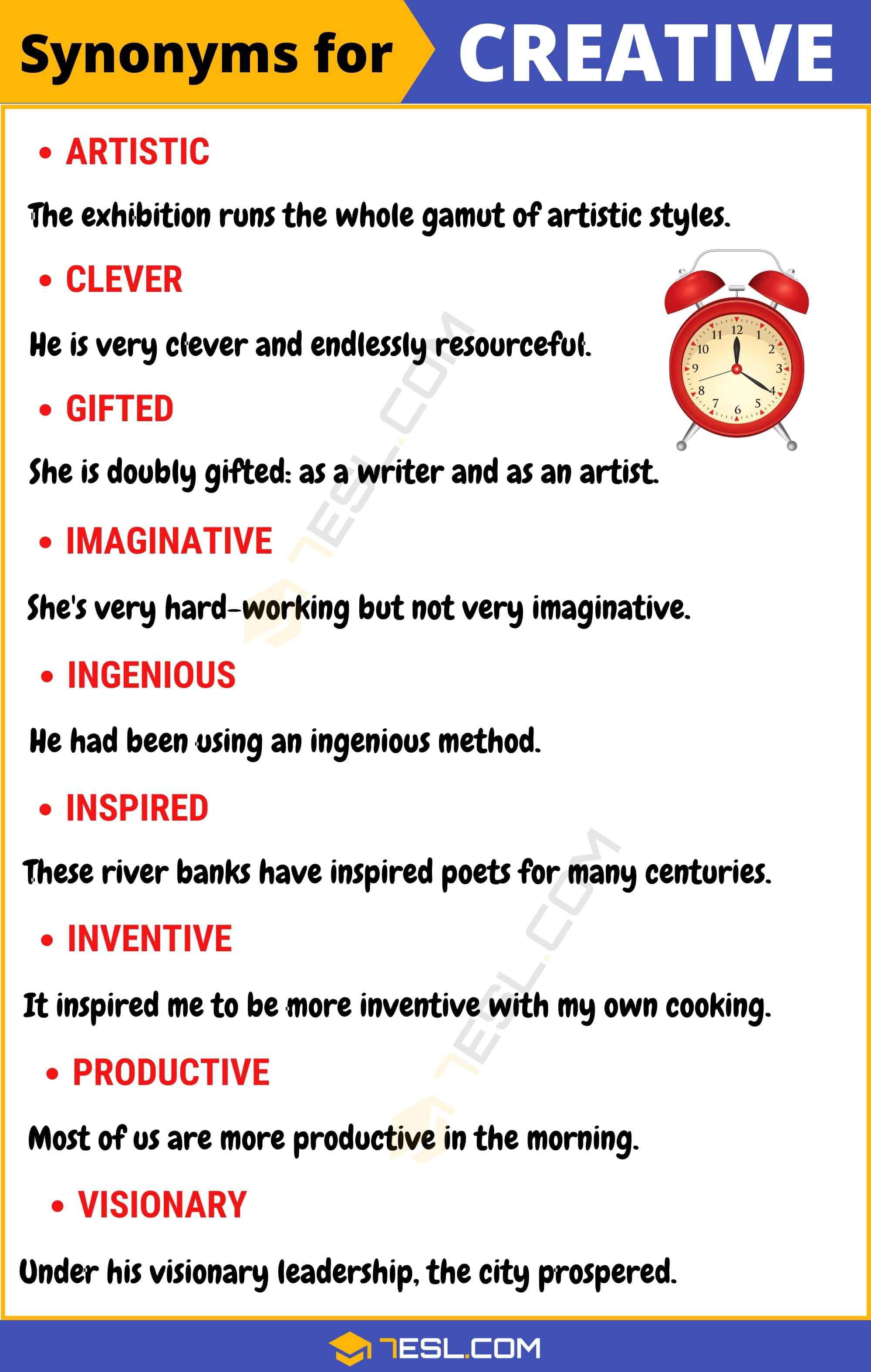 "Another Word for Creative | 95+ Synonyms for ""Creative"" with Useful Examples"