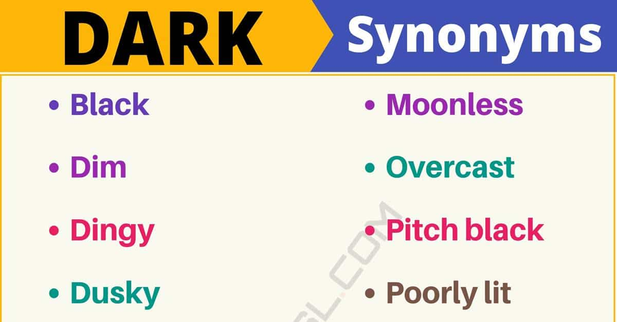 """Another Word for """"Dark"""" 