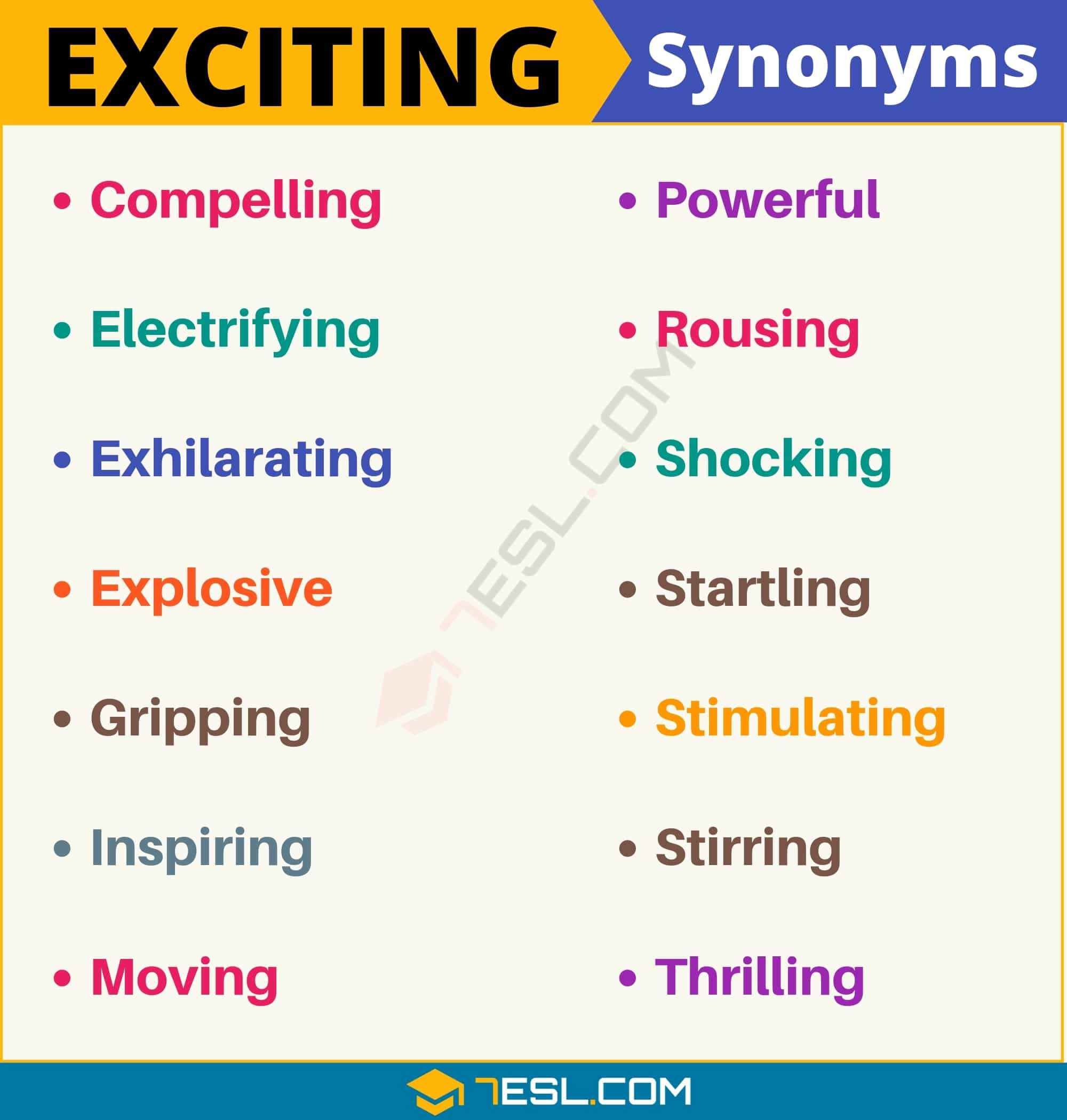 "Another Word for Exciting | 105+ Synonyms for ""Exciting"" with Examples"