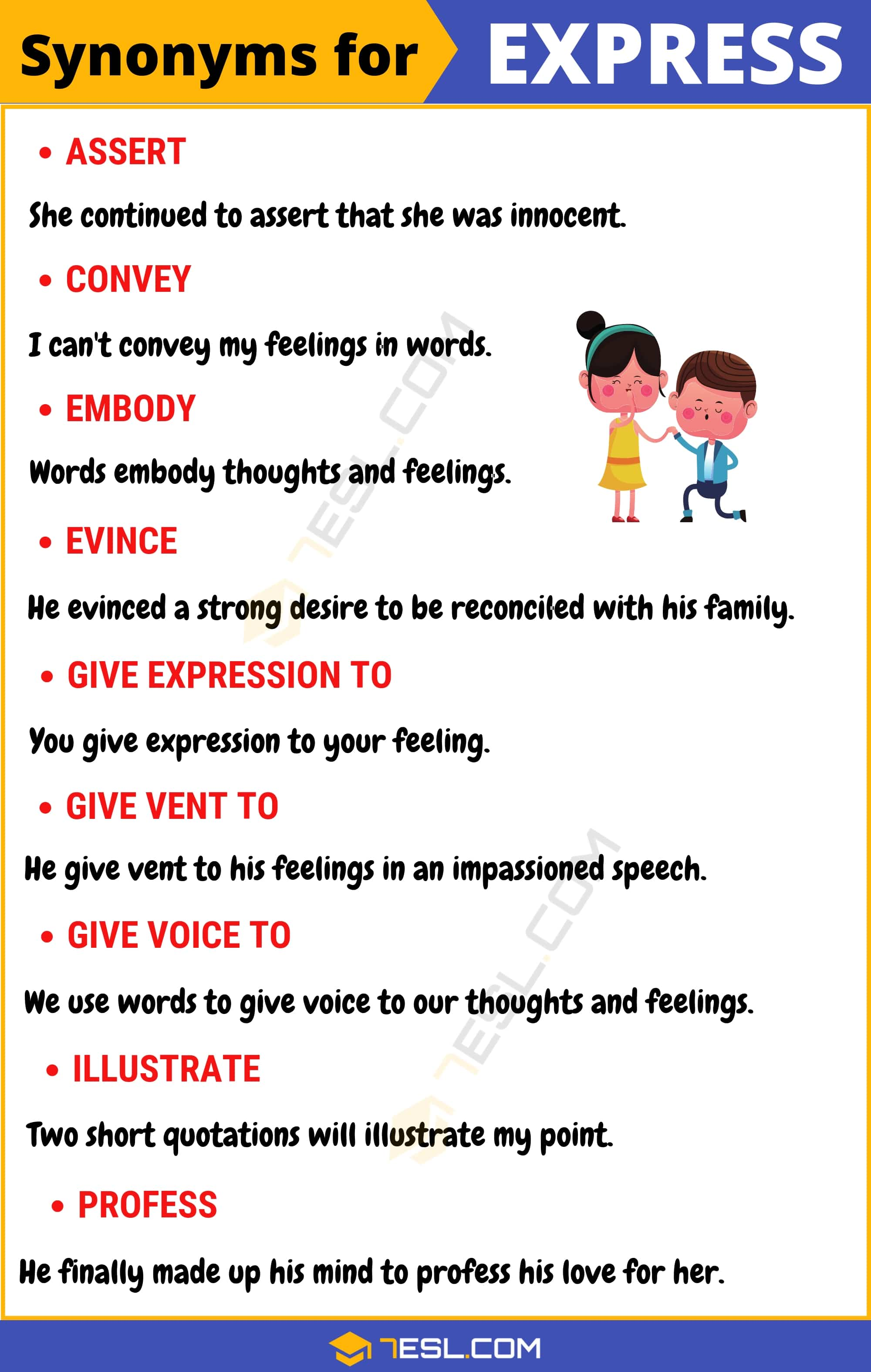 """Another Word for Express   List of 100+ Synonyms for """"Express"""" in English"""