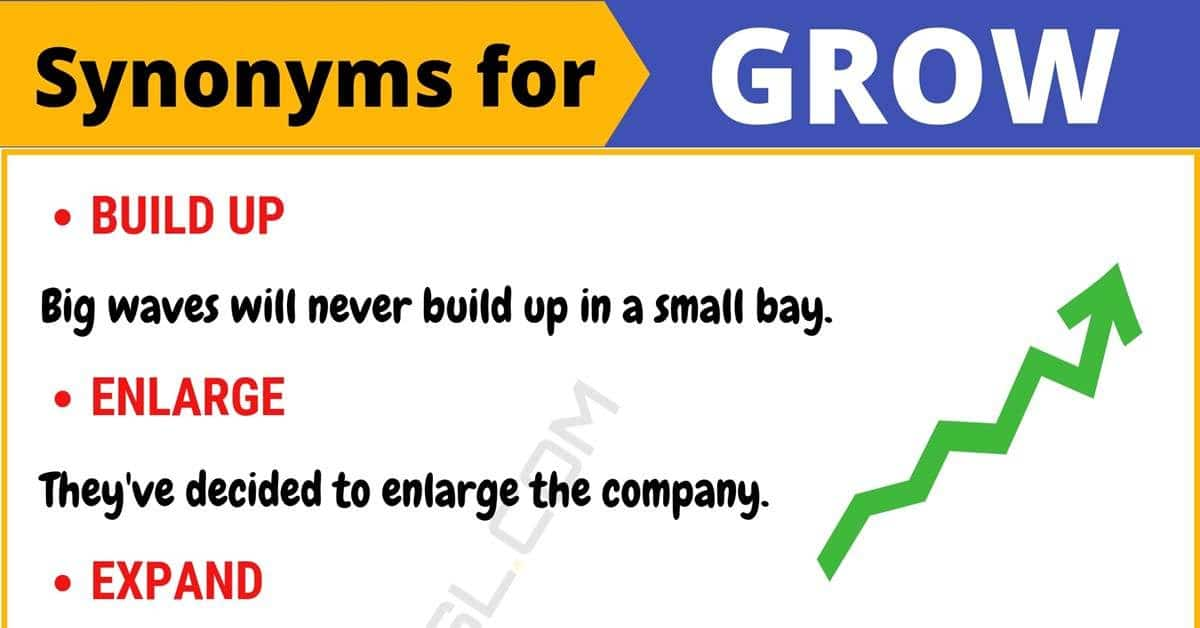 GROW Synonym: List of 100+ Synonyms for Grow with Useful ...
