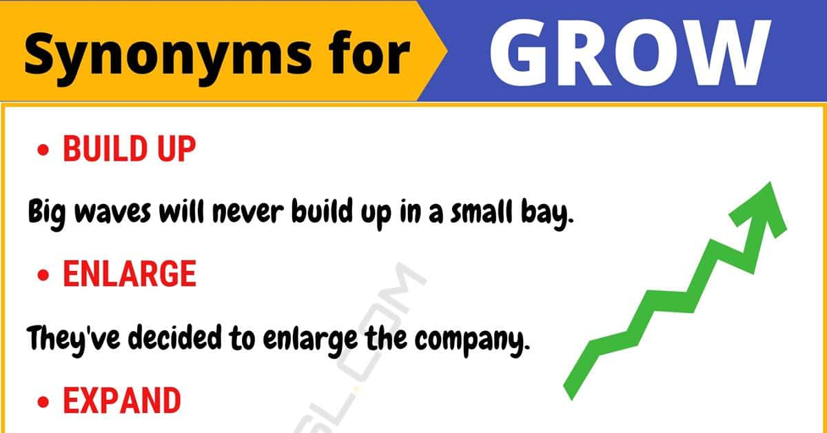 """Another Word for """"Grow"""" 