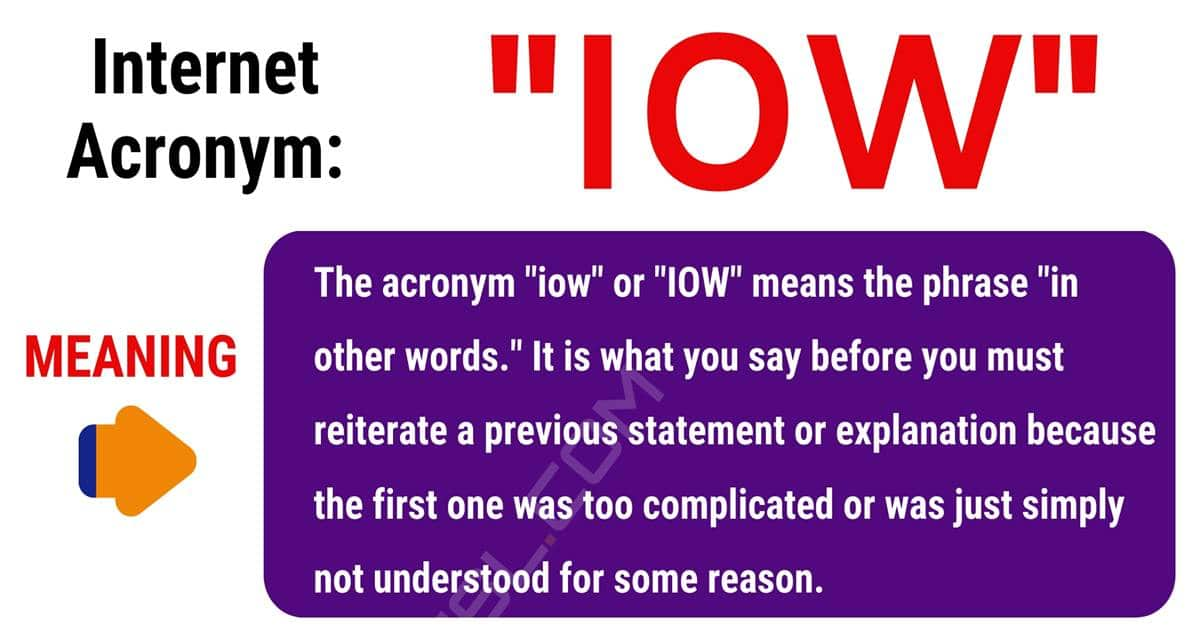 IOW Meaning: What Does IOW Stand For? with Useful Conversations 1