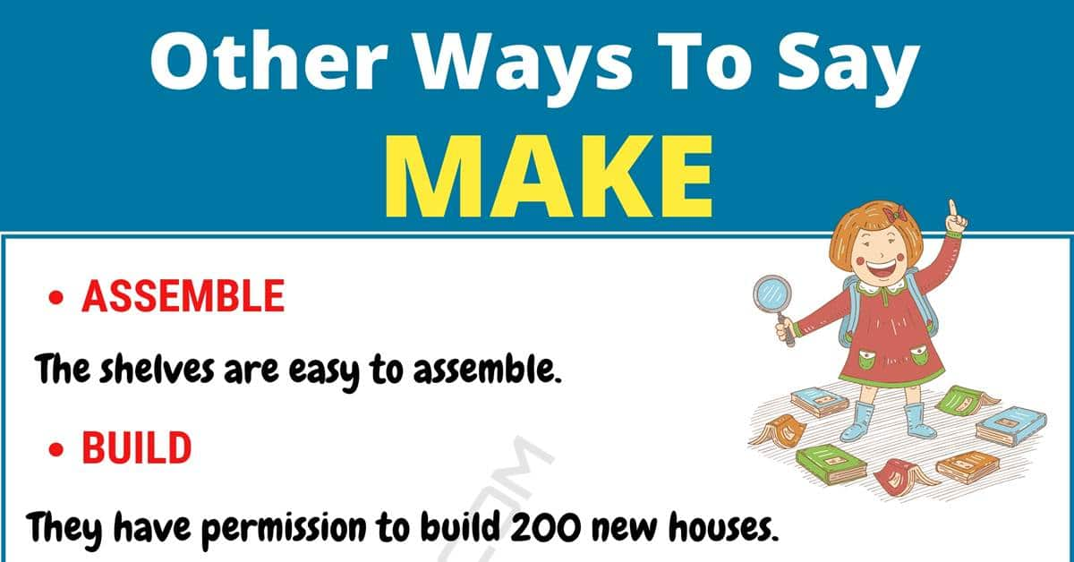 "Another Word for ""Make"" 