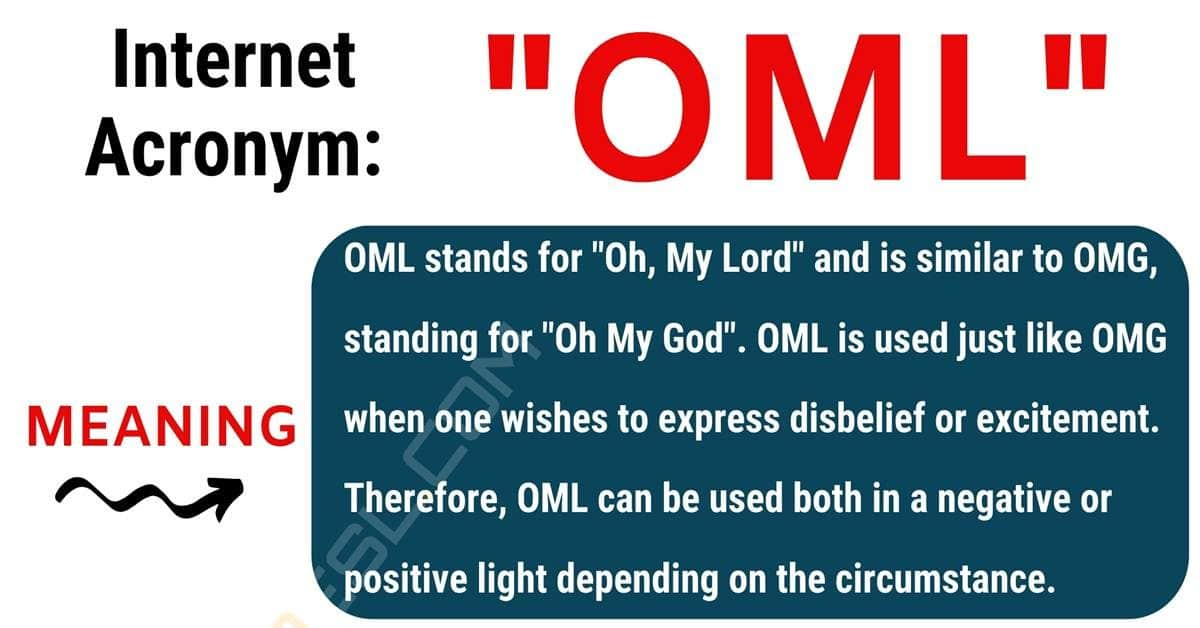 OML Meaning: What Does OML Stand For? (with Interesting Conversations) 1