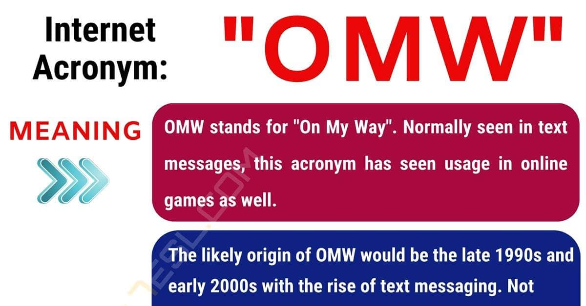 OMW Meaning: What Does OMW Mean? Useful Conversation Examples 1