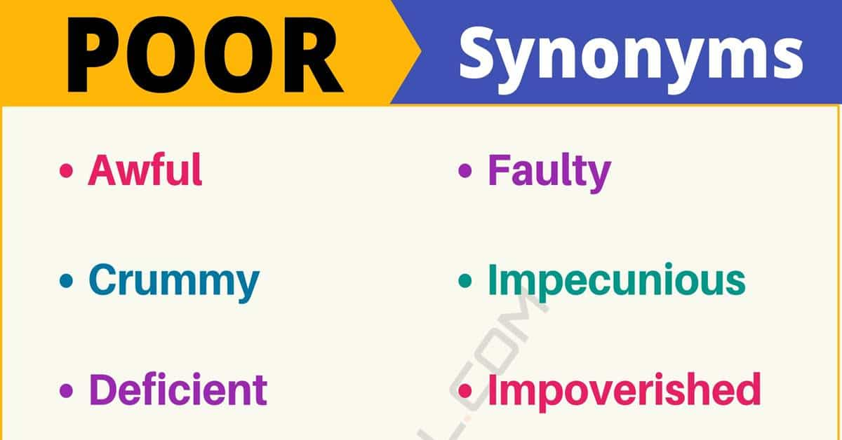 """Another Word for """"Poor"""" 
