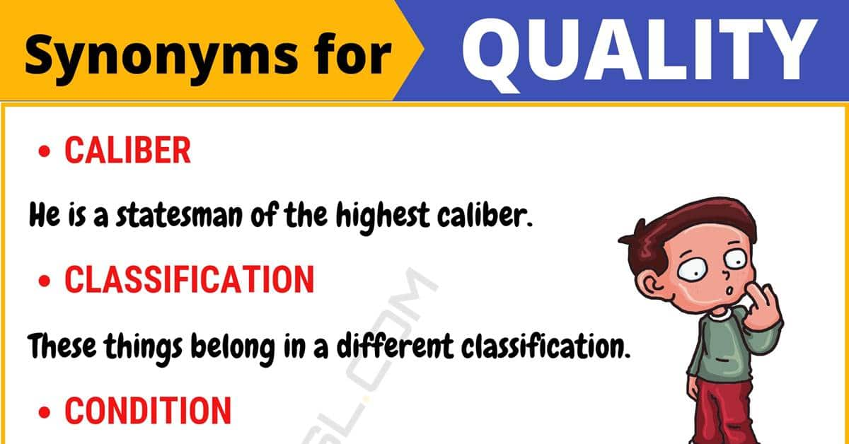"""Another Word for """"Quality"""" 