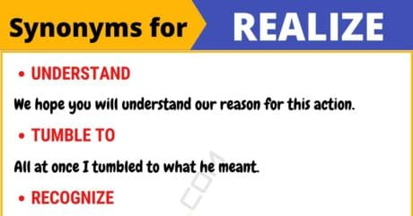 REALIZE Synonym: List of 8 Synonyms for Realize with Useful Examples