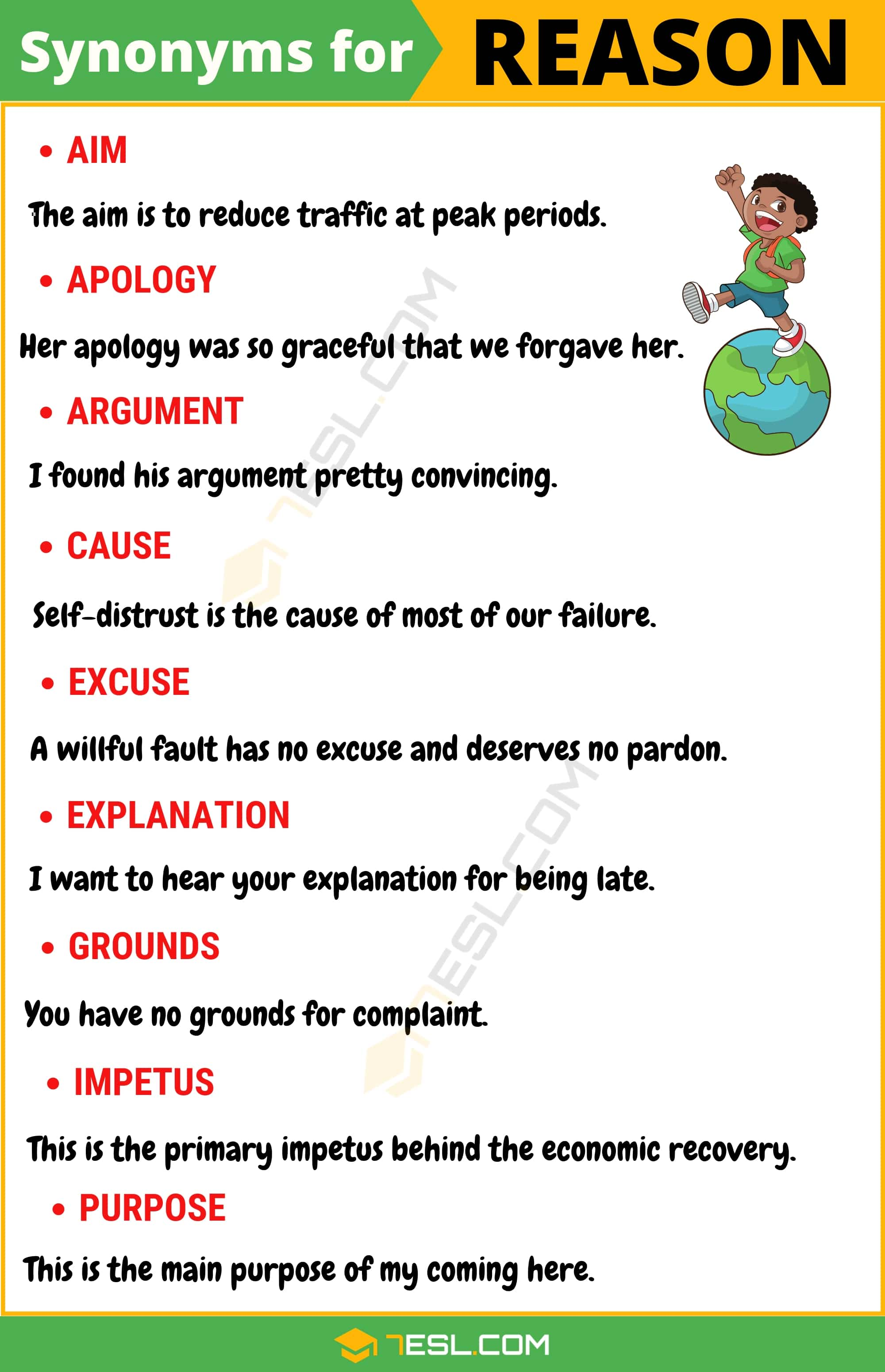 "Another Word for Reason | List of 100+ Synonyms for ""Reason"" with Examples"