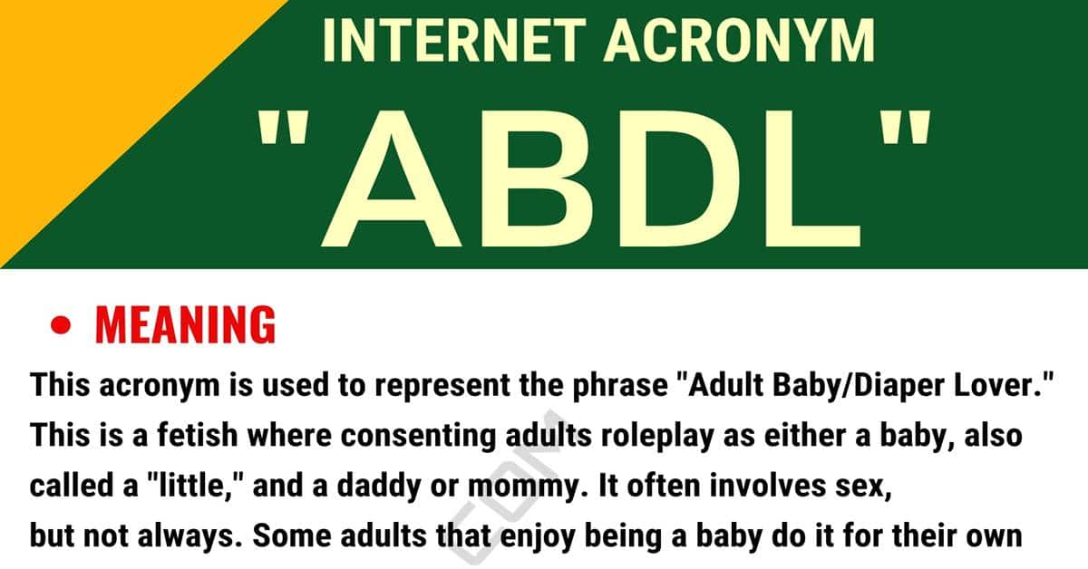 "ABDL Meaning: What is the Meaning of the Useful Acronym ""ABDL"" 1"