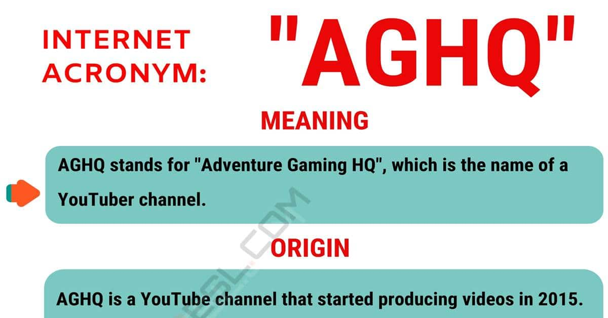 AGHQ Meaning: What Does AGHQ Mean and Stand For? 1