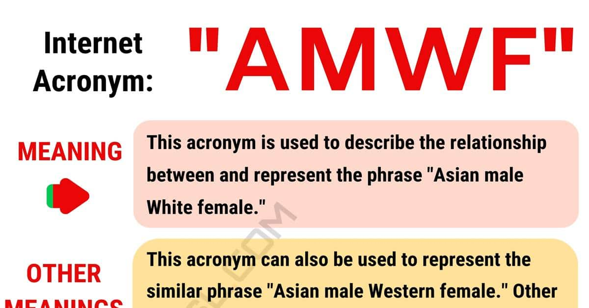 AMWF Meaning: What are the Meanings of this Interesting Acronym? 1