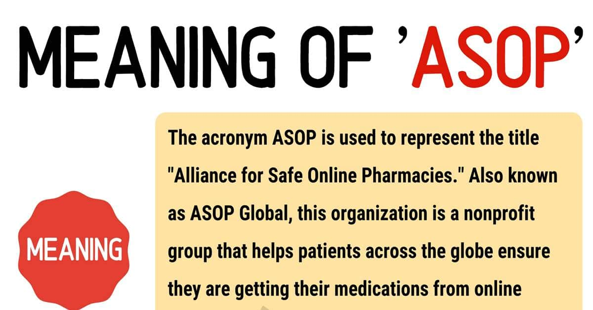 """""""ASOP"""" Meaning 