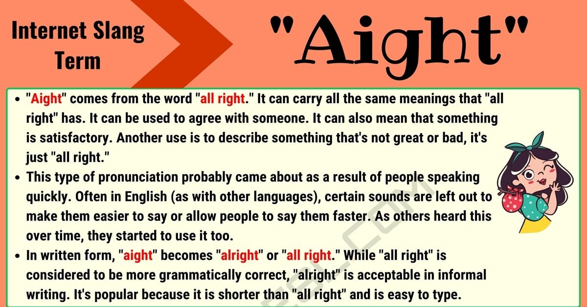 Aight Meaning: What Getting 'Aight' Means and How to Use It Properly 1