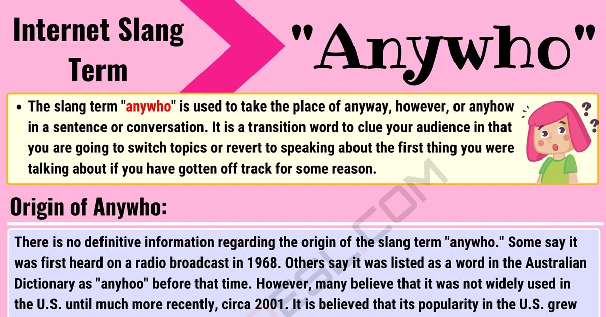 "Anywho Meaning: How to Use the Popular Term ""Anywho"" Correctly? 1"