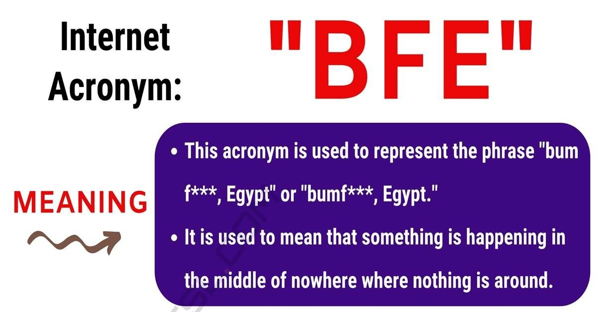 BFE Meaning: What Does BFE Stand For? with Useful Text Conversations 1