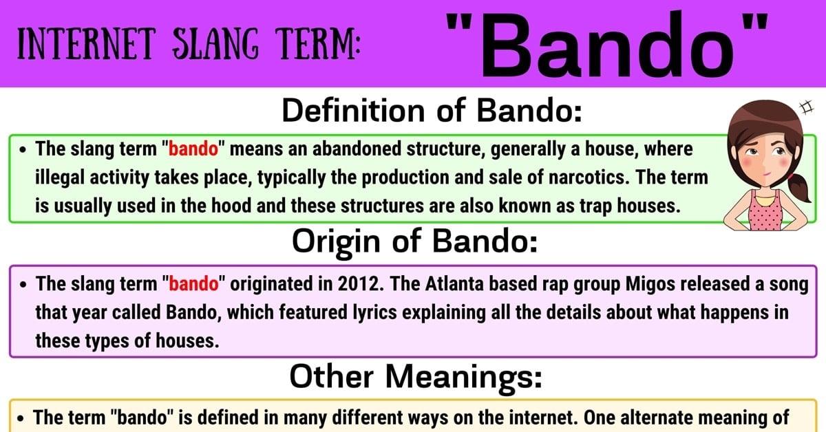 Bando Meaning: How Do You Define the Slang Term 'Bando'? 1