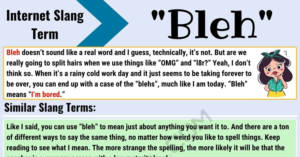 "Bleh Meaning: What Does the Incredible Term ""Bleh"" Mean? 1"