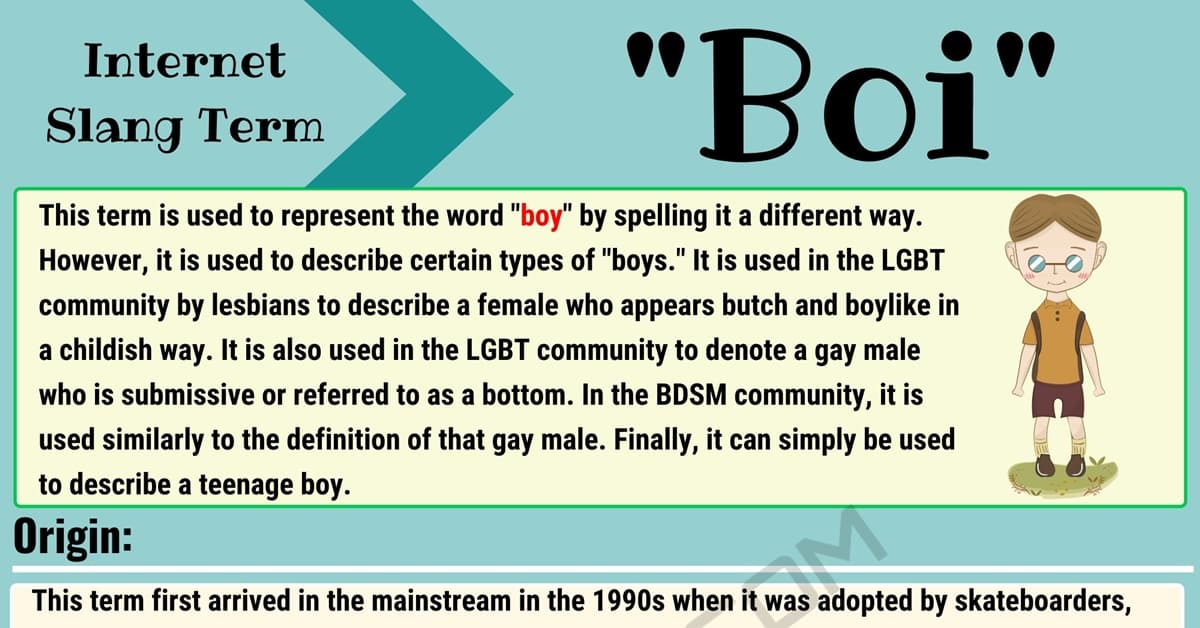 Boi Meaning: How to Use the Interesting Slang Term 'Boi'? 1