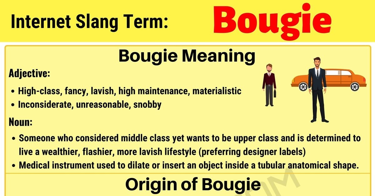 "Bougie Meaning: What Does the Useful Term ""Bougie"" Mean in Internet Slang? 1"
