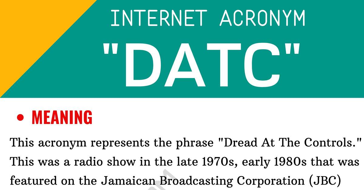 """DATC Meaning: Do You Know What the Useful Acronym """"DATC"""" Stands For? 12"""
