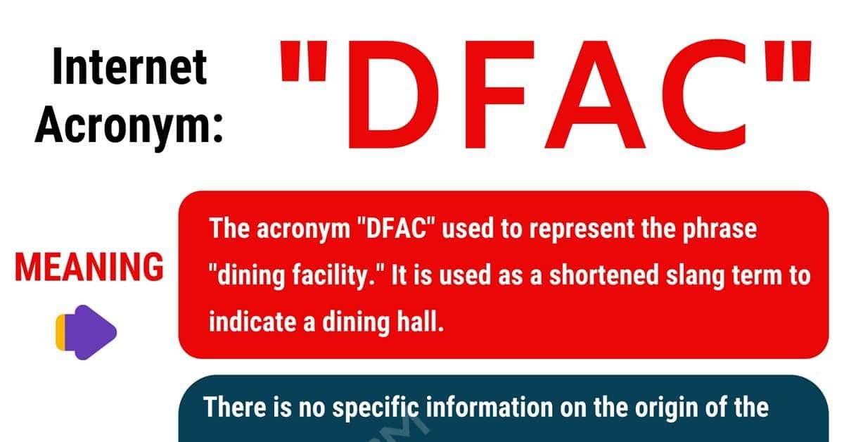 DFAC Meaning: What Does DFAC Stand For? with Helpful Examples 1