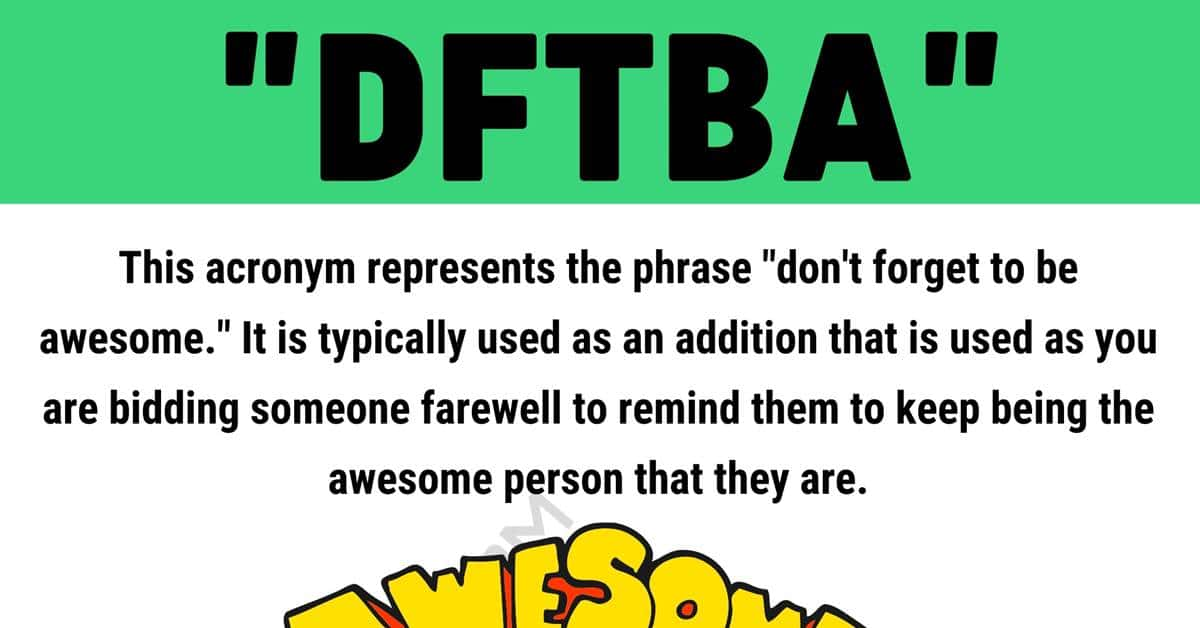 """""""DFTBA"""" Meaning 
