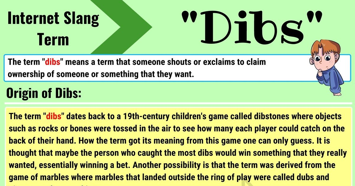 Dibs Meaning: What Does Dibs Mean? with Useful Conversations 1