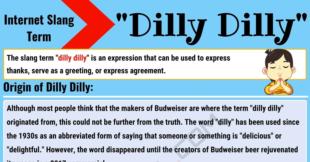 """""""Dilly Dilly"""" Meaning with Useful Conversations in English 1"""