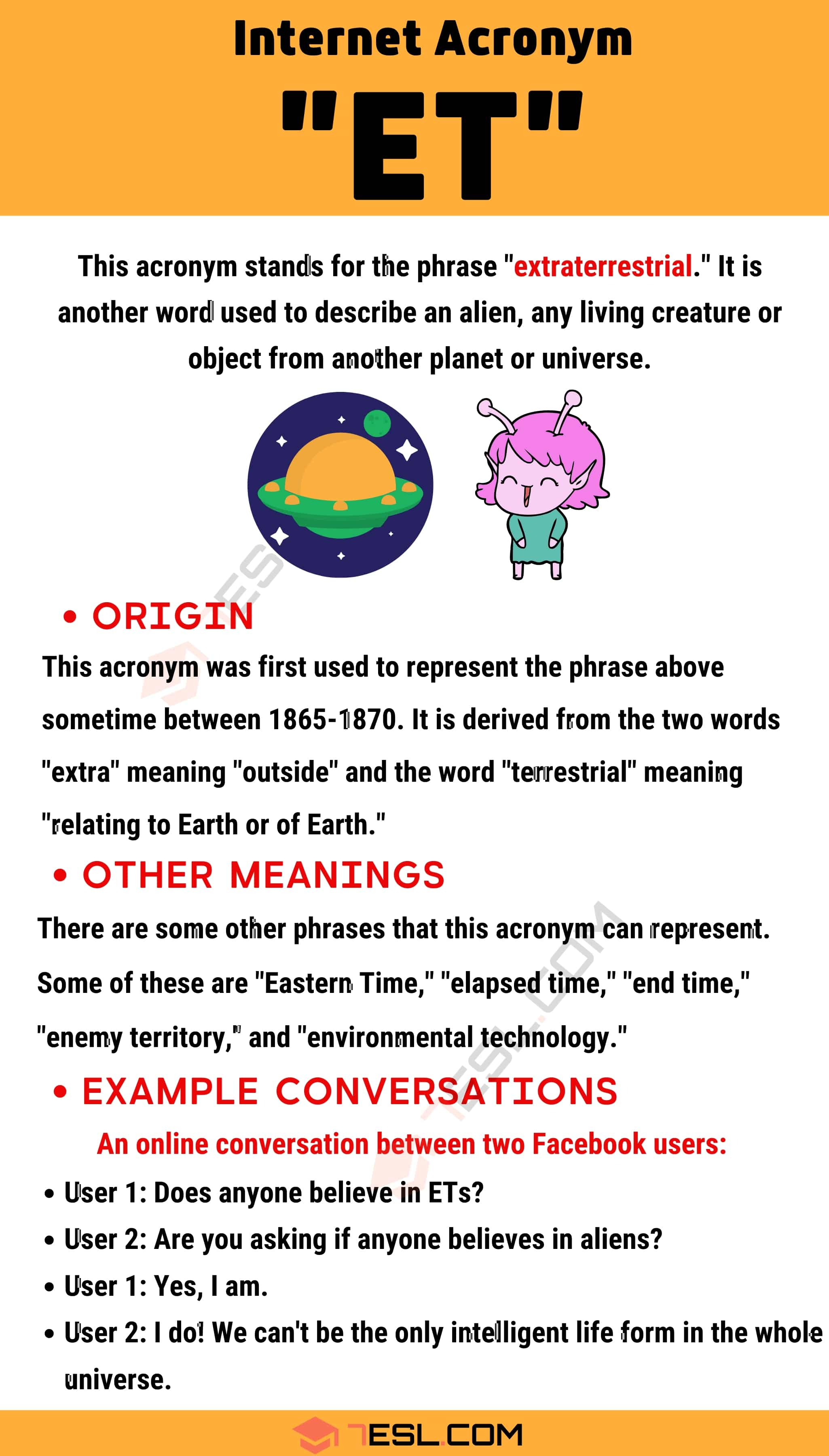 "ET Meaning: The Meaning and Examples of This Useful Acronym ""ET"""