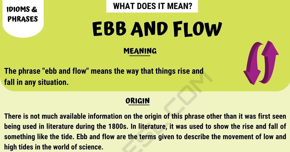 Ebb And Flow Meaning: What Does This Idiom Mean? With
