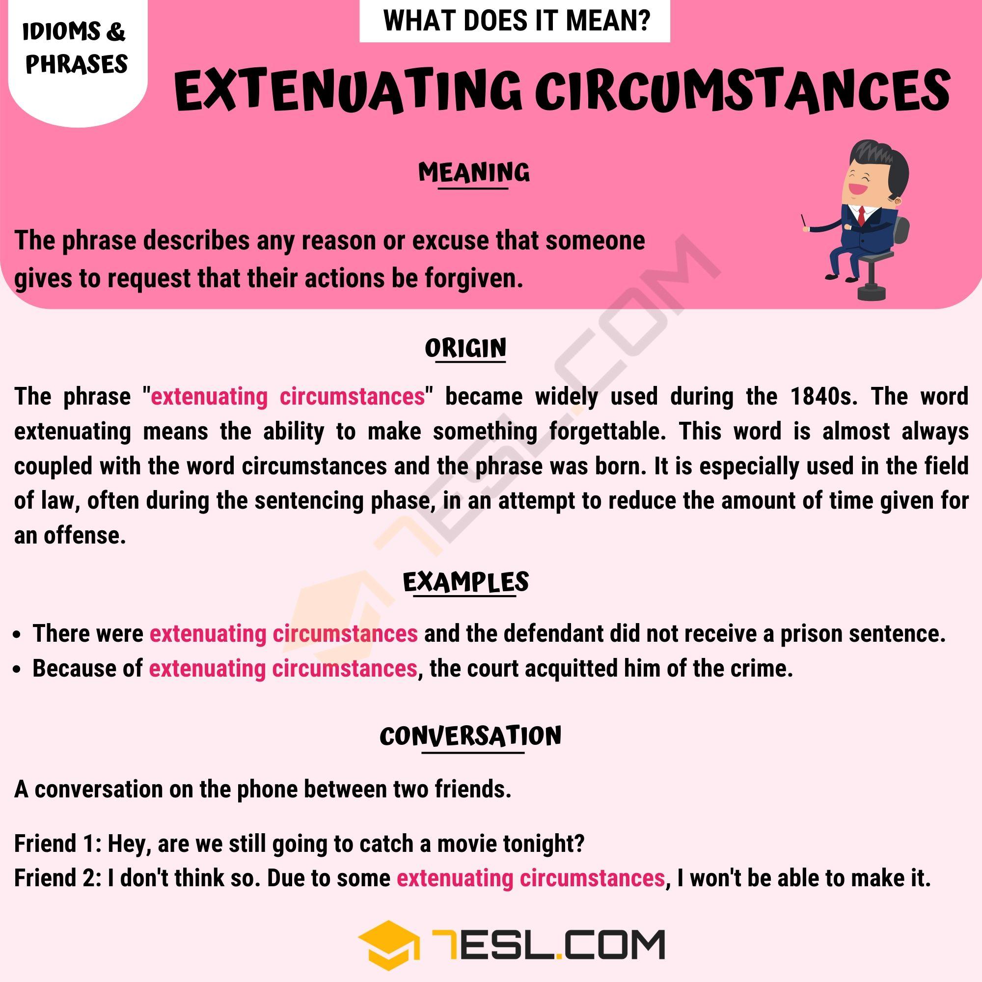 Extenuating Circumstances