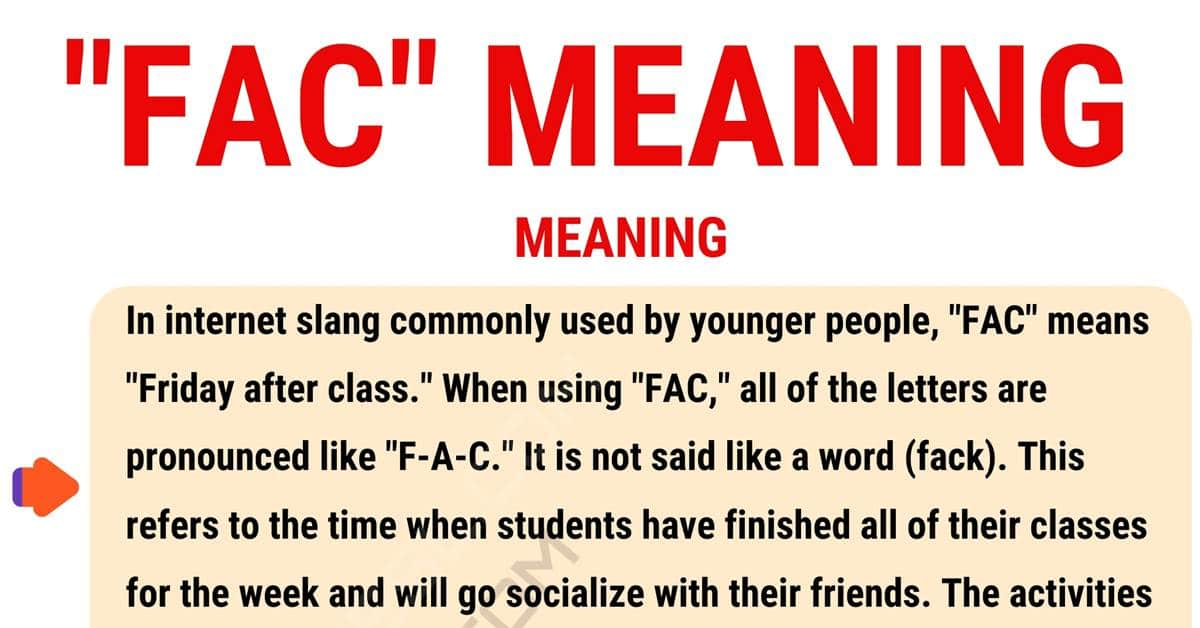 "FAC Meaning: Definition and Examples of the Useful Term ""FAC""? 1"