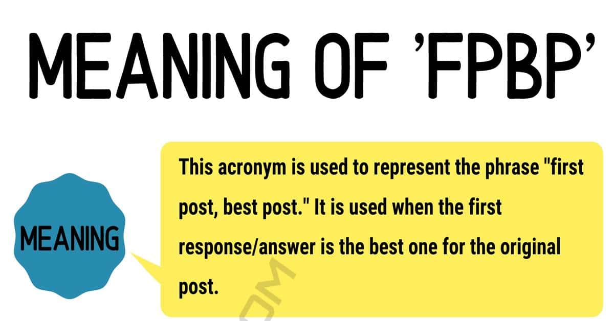 "FPBP Meaning: What Does the Useful Term ""FPBP"" Mean and Stand For? 1"
