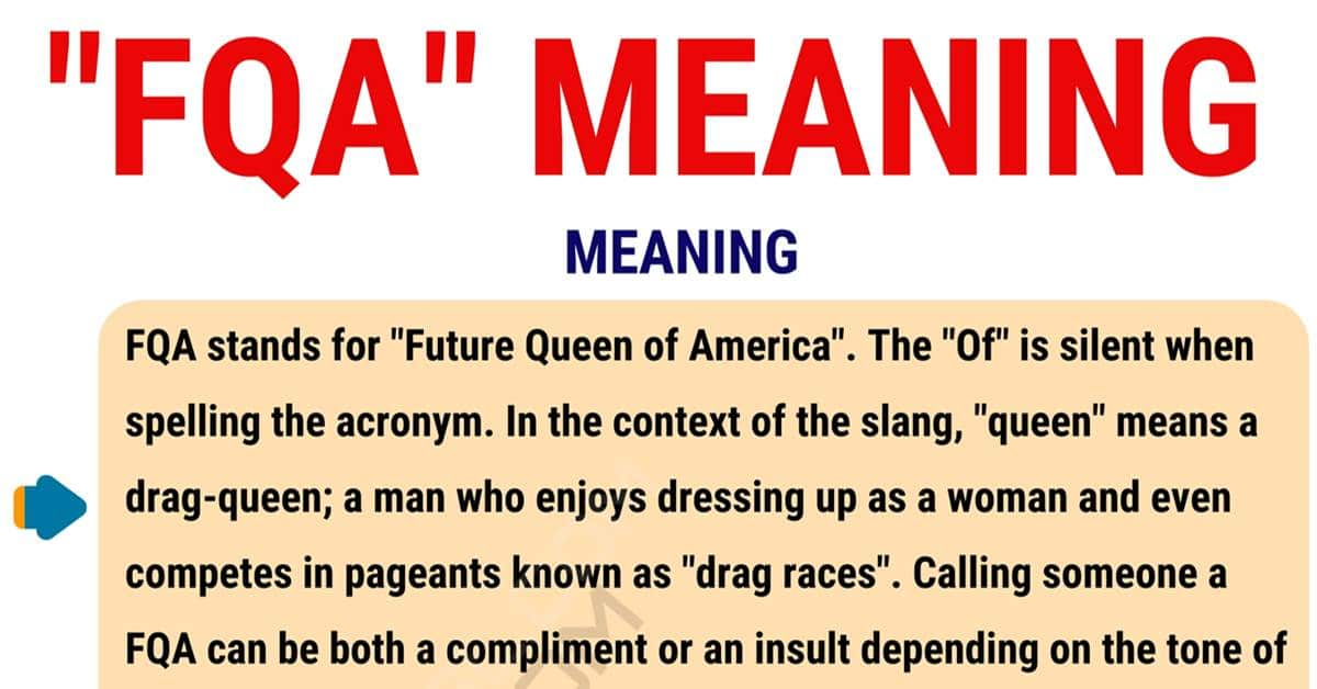 FQA Meaning: What Does the Useful Term FQA Stand for? 1